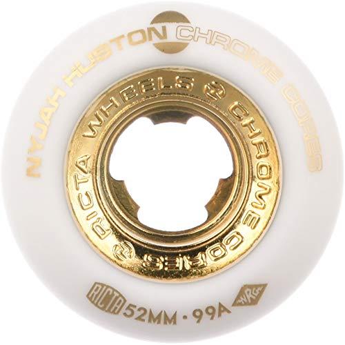 Ricta Skateboard Wheels Nyjah Huston Chrome Core Slim 99A 53mm Wheels