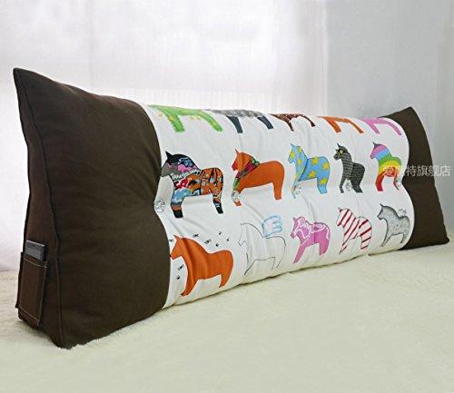 Uus Triangle canapé Coussin tête de lit Design Ergonomique Dossier Doux et Confortable Moderne Couette Populaire Oreiller Taille 200 * 50 * 20cm (Couleur : M)