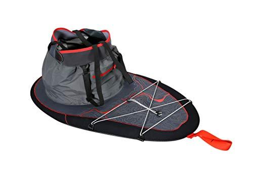 Dagger Outbound Spray Skirt | Touring Spray Skirt for Kayaks | Kevlar Reinforced Neoprene | Adjustable Waist | 4 Cockpit Sizes, Black, X-Large Cockpit