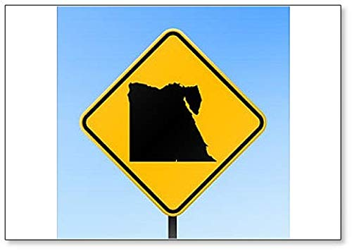 Egypte Map on Road Sign Illustration Koelkast Magneet