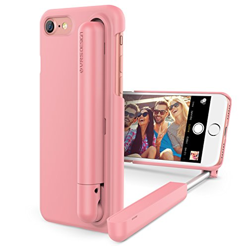 iPhone 7 Case, VRS Design [Cue Stick][Snow Pink] - [Wired Selfie Stick][Battery Free] for Apple iPhone 7 4.7