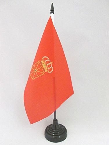 AZ FLAG Bandera de Mesa de la Comunidad Foral DE NAVARRA 21x14cm - BANDERINA de DESPACHO NAVARRA 14 x 21 cm