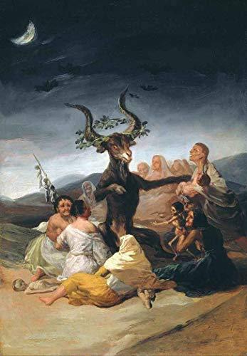 O Sabá das Bruxas (1798) de Francisco de Goya - 75x108 - Tela Canvas Para Quadro
