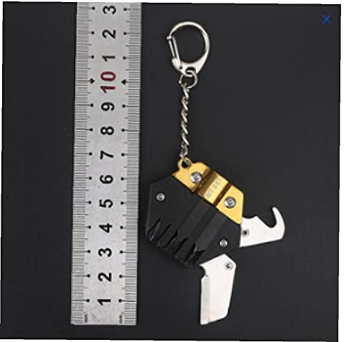 Herramienta De Supervivencia Multiherramienta Hexagonal Llavero Kit Plegable Mini Bolsillo Conjunto De Acero Inoxidable con El Cuchillo Micro Destornillador Fijado Abrebotellas