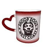 Snoop DOgg Tazza che cambia colore Tazza da caffè Design Tazza sensibile al calore in ceramica Tazza che cambia colore nel cielo Regalo di compleanno