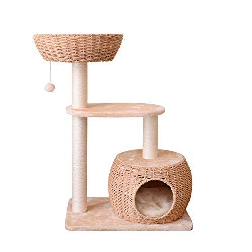 Arañazos Kratzbaum Cat Cat árbol Arena for Gatos Columpio del Gato del Gato del árbol Que Sube de la litera casera DIY sisal Gato Que rasguña Junta del Gato Grande Gato Centro de Actividades Muebles