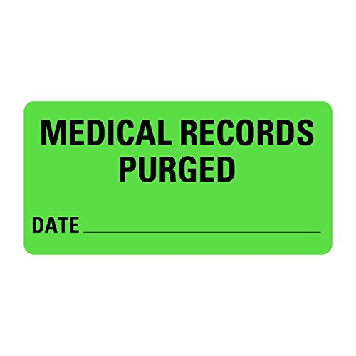 Medical Records PURGED Medical Records Labels LV-MRL14