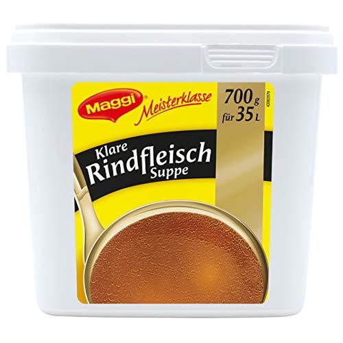 Maggi Klare Rindfleischsuppe, sofort löslich, 1er Pack (1 x 700g Gastro Box)