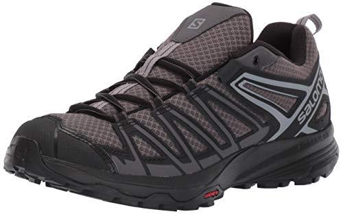 Salomon Men's X Crest Hiking Shoes, Magnet/Black/Monument, 10.5