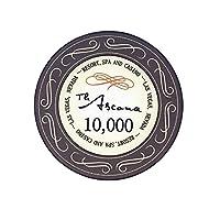 MMingx- カジノポーカーチップ 10個/セットポーカーチップ10gクレイトランプチップ額面価格のコインブラックジャックカジノテキサスチップ (Color : 10000 value)