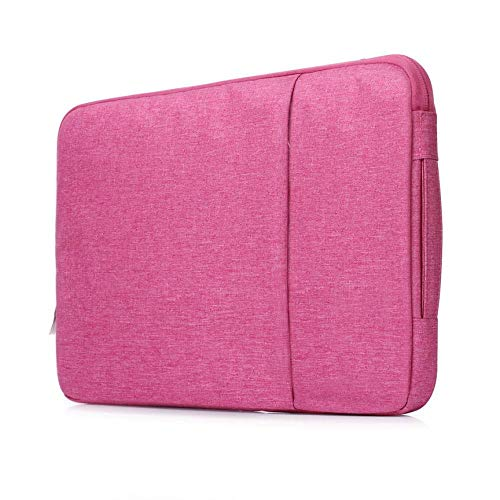 OWIME Portable Laptop Sleeve Case 14/15./15.6 Inch Notebook Travel Carrying Bag Waterproof Protective Cover For Macbook Air Pro 13 15 (Color : Rose, Size : 13 inch)