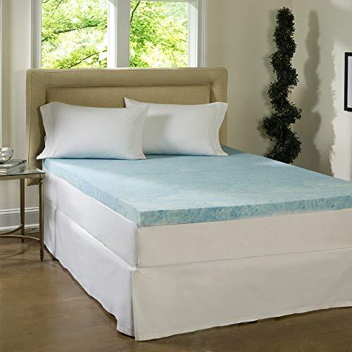 Simmons Beautyrest Comforpedic Loft from Beautyrest 4-inch Flat Gel Memory Foam Mattress Topper Queen