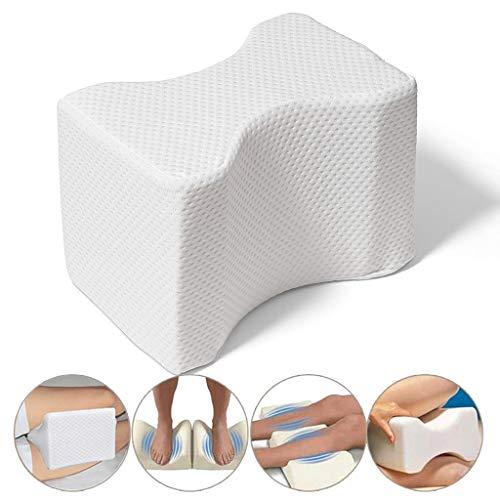 WZYJ Memory Foam Beinkissen, unterer Rücken, Hüfte, Knie, Knöchel und Ischiasschmerzen - seitliches Schlafdruckentlastungskissen mit Abnehmbarer Abdeckung