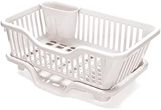 HOUZE KN-6702 Dish Drainer with Centre Flow Tray, Beige