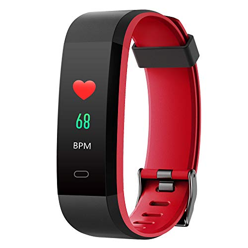 YAMAY Orologio Fitness Tracker Cardiofrequenzimetro da Polso Smartwatch Android iOS Uomo Donna Bambini Impermeabile IP68 Contapassi Calorie Sport Nuoto Corsa