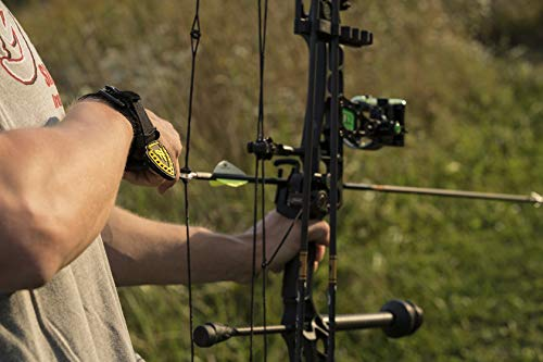 TruFire Edge Buckle Foldback Adjustable Archery Compound Bow Release - Black Wrist Strap with Foldback Design