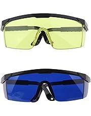 kokiya 2 St Oogbescherming Bril Soldeerbril voor Blauw Gele Goggle