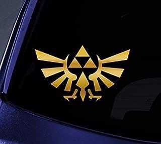 Richstar17 Triforce Wings Zelda Sticker Decal Notebook, Car, Truck, Wall, Vinyl Window Stickers (Gold, 10'')