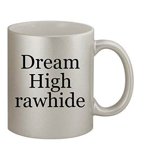 Dream High rawhide - 11oz Silver Coffee Mug Cup, Silver