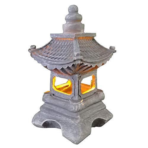 Uziqueif Lamparas japonesas - Estilo Japonés Tachi-Gata Al Aire Libre Solar Zen...