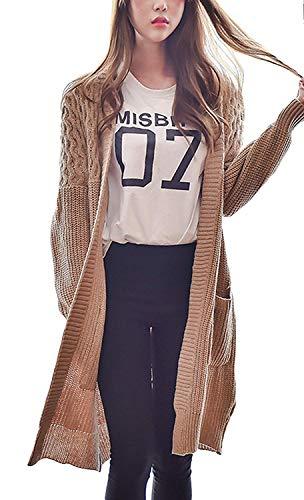 Dames cardigan herfst winter elegant gebreid jack Young Fashion lange coat kleding losse oversize trend outdoor meisjes lange mouwen effen wintermantel