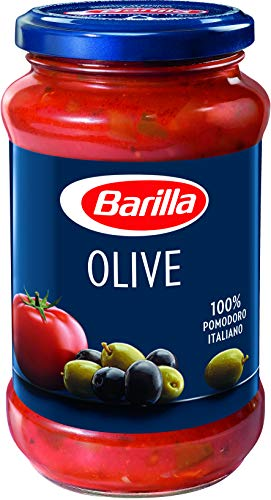 Barilla Pastasauce Olive – Sauce mit Oliven 1 Glas (1x400g)