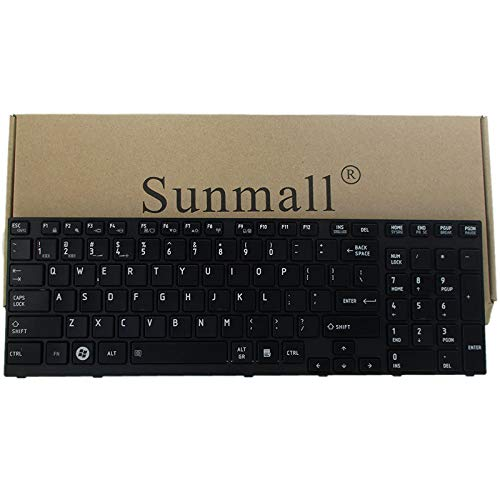 P755 Keyboard Replacement, SUNMALL Laptop Keyboard Replacement for Toshiba Satellite P750 P750D P755 p755-s5320 P770 P770D P775 p775-s7215 Series US Layout