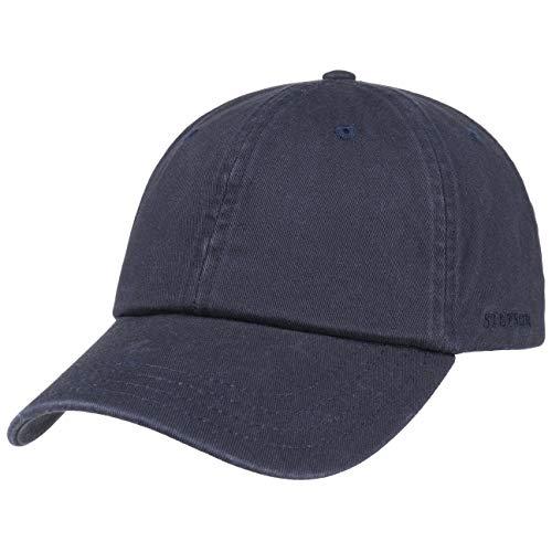 Stetson Rector Basecap - Cap für Damen/Herren - Sonnenschutz-Cap aus Baumwolle (UV-Schutz 40+) - Baumwollcap größenverstellbar (55-60 cm) - Baseballcap Sommer/Winter dunkelblau One Size