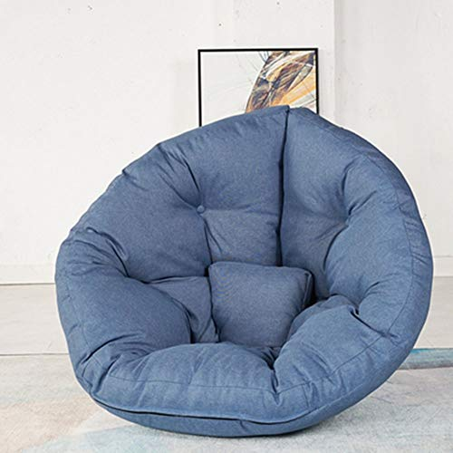 Yiran Sitzsack - Bean Bag Covers Tatami Kinder Indoor Outdoor Hocker Sitzkissen Bodenkissen Kinder Sitzsäcke Relax Game Möbel Kissen Sessel Sofa Gaming Innen Outdoor Faules Sofa (Color : Blue)
