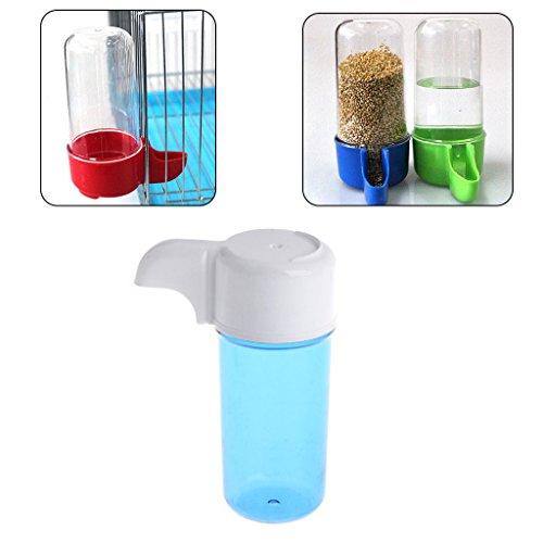 Autone 1 x Futterspender für Vögel, Kunststoff, automatischer Wassertrinkspender im Vogelkäfig.