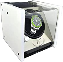 Mechanical Watch Winder, Single-Table High-End Luxury Portable Watch Storage Box, White Classic Electric Motor 1 + 0 Table Shaker
