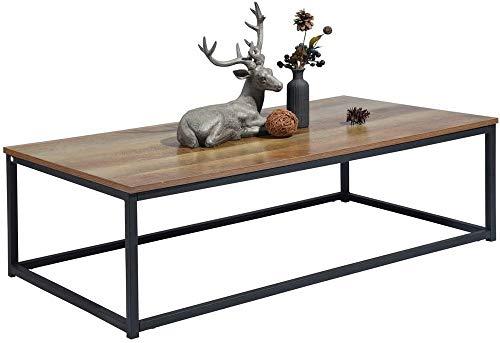 MEUBLE COSY, Table Basse Design Moderne, Madera, Dark Wood, 110 X 60 X 34 Cm