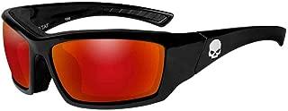 Men's Tat Skull Gasket Sunglasses, Red Mirror Lenses HATAT13