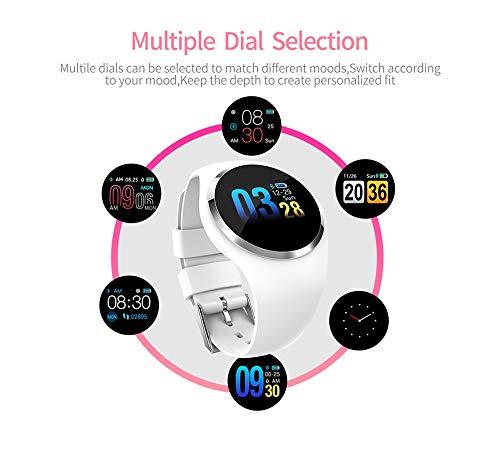 YUYLE Smartwatch nieuwe smartwatch voor mannen, vrouwen, hartslag, bloeddrukmonitor, fitnesstracker voor Android, Regulable