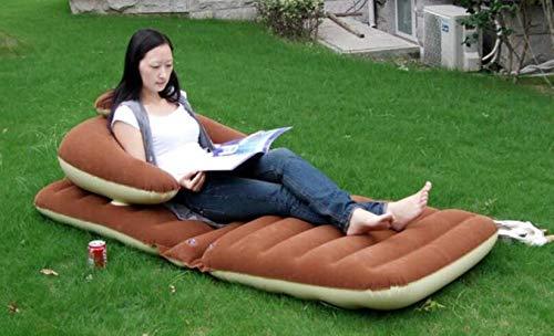Clkdasjd aufblasbares Schlafsofa aus PVC braun