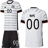 adidas UEFA Fußball DFB Deutschland Heimset EM 2020 Home Kit Trikot Shorts Kinder Wunschname Gr 128
