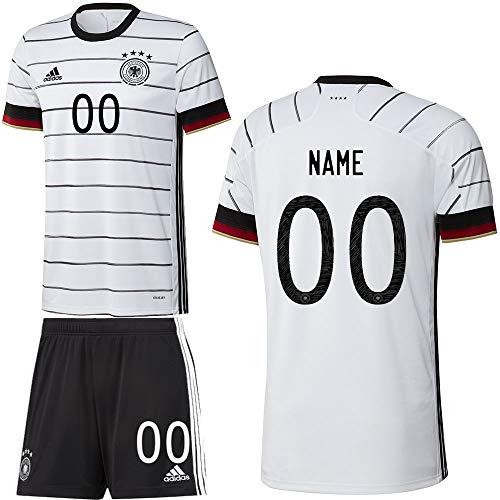 adidas UEFA Fußball DFB Deutschland Heimset EM 2020 Home Kit Trikot Shorts Kinder Wunschname Gr 164