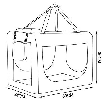 dibea Caisse de Transport pour Chien Sac pour Chien Pliable Caisse de Transport pour la Voiture Sac pour Petits Animaux (Rouge, 50x34x36 cm)