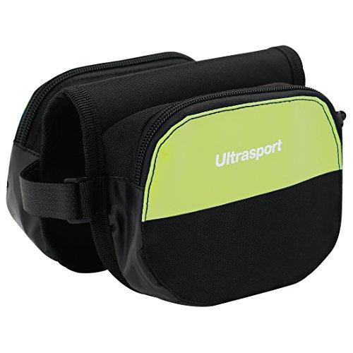 Ultrasport Bolsa doble para cuadro de bicicleta, bolsa para el tubo superior para llevar objetos personales, compatible con bicicletas de trekking, de carretera y de montaña, Amarillo