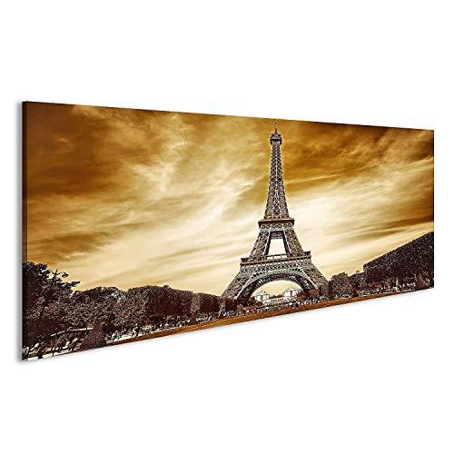 bilderfelix® Acrylglasbild Eiffelturm Paris Sepia Effekt Glasbild Wandbild auf Glas
