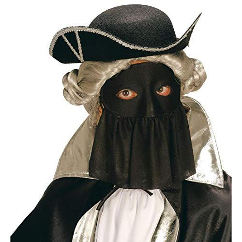 NET TOYS Máscara Veneciana con Velo   Negro   Disfraz de Dama misteriosa Antifaz para Baile de máscaras   Ideal para Baile de Pijamas y Fiestas temáticas