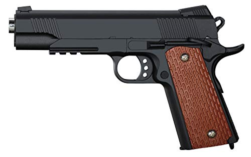 Rayline Pistola Softair Full Metal RV13 (Pressione Manuale della Molla), Replica in Scala 1: 1, Lunghezza: 22,5 cm, Peso: 430 g (Meno di 0,5 Joule - da 14 Anni)