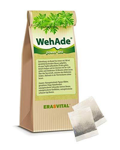 Tee 20 Teebeutel = 40g OHNE Tassenreiter Papaya-Blätter gemahlene Chaga-Naturbrocken Schisandra Sinensis Beere schwarze Goji Beere.
