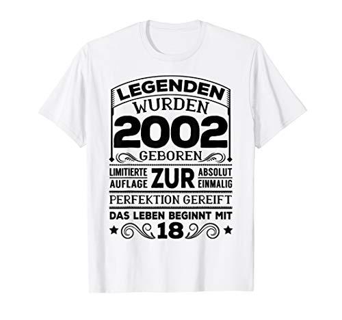18. Geburtstag Mann Frau Lustig 18 Jahre 2002 Party Geschenk T-Shirt