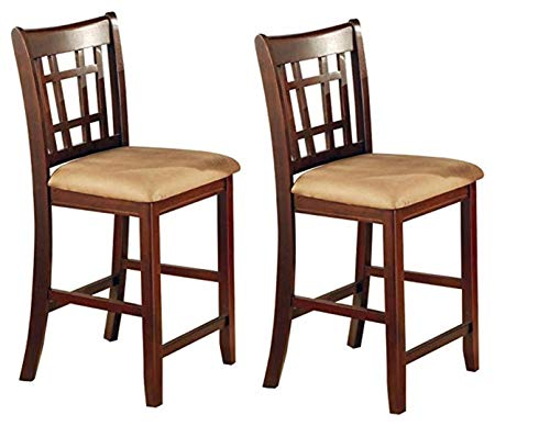 Lavon 24' Counter Stools Tan and Brown (Set of 2)