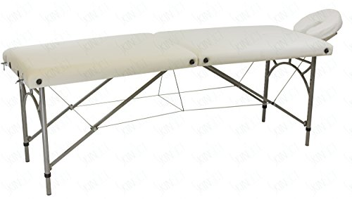 Skin Act Ultra Light Weight Supreme Edition Massage Table with Aluminium Frame in White Color