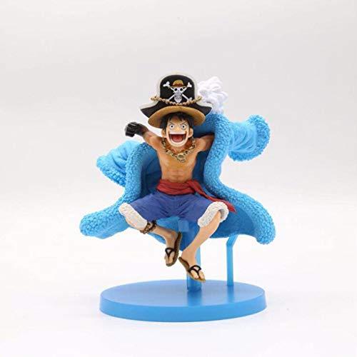 YF 20th Anniversary Luffy Strohhut Königs Haki Mugiwara Boy Manga Anime One Piece Monkey D. Luffy Gum-Gum Frucht PVC-Tätigkeits-Abbildung Modell-Spielzeug-Geschenk for Jugendliche