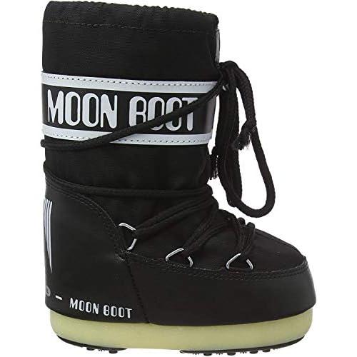Moon Boot Nylon, Stivali Invernali Unisex Bambini, Nero, 27-30