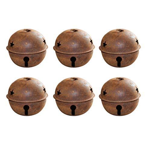 SUPVOX 24 campanelle decorative per albero di Natale, 40 mm, antiruggine, per decorazioni natalizie