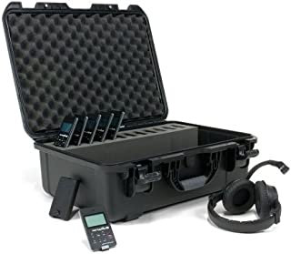 Williams Sound DWS COM 6 PRO Digi-Wave Wireless Intercom System, Fourindependent groups can be operating simultaneously within arange of up to 100 feet outdoors/200 feet indoors